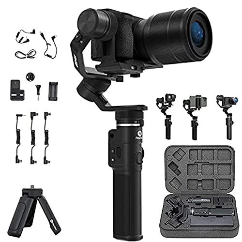 FeiyuTech G6 Max Gimbal palmare stabilizzato a 3 assi per mirrorless, fotocamere sportive e fotocamere compatte, smartphone, a prova di schizzi, controllo del cavo TYPE C Fotocamera SONY e Panasonic