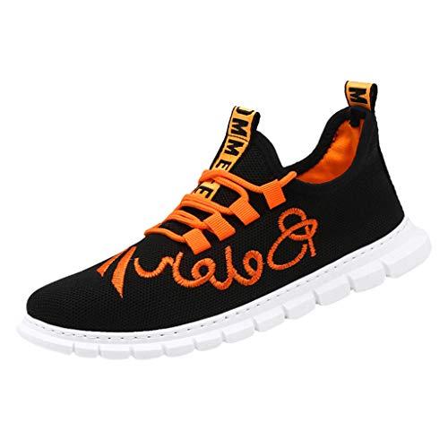REALIKE Herren Laufschuhe Sneaker Sportschuhe Gym Turnschuhe Freizeitschuhe Atmungsaktiv Running Schuhe Low Top Schnürschuhea Mesh Outdoor Shoes Arbeitsschuhe Sicherheitsschuhe Freizeitschuhe