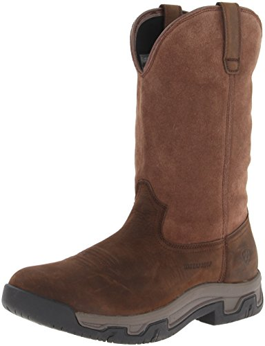 Ariat Men's Terrain Pull-On H2O Western Boot, Distressed Brown, 12 D US