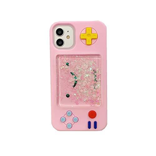 """SevenPanda 3D Karikatur Spiele Tasche Kompatibel mit iPhone 11 Pro Max, Kreativ Flüssigkeit Sterne Lustige Spieletasche Weiche Gummi Schutzhülle für Mädchen Frauen(Rosa, iPhone 11 Pro Max 6.5"""")"""