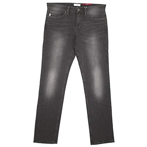 S. Oliver, Tube, Herren Jeans Hose, Stretchdenim, Grey Used, W 32 L 34 [18644]