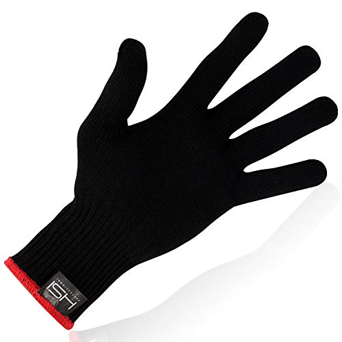 HSI Professional Heat-Resistant Glove - Lightweight & Heavy Duty Hand Protection - Perfect for Curl Iron, Flat Iron, Hair Dryers One Size Fits All