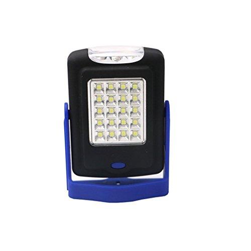 GRH 2-Mode 23 * Lampe de poche à LED Magnétique Travailler le crochet pliant Tente Lampe à lampe Torch Linternas Lampe par batterie AAA ( Color : Blue )