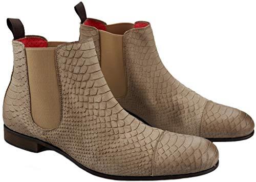 Pertini - Herren Ankle Boot - Beige Leder (Numeric_40)