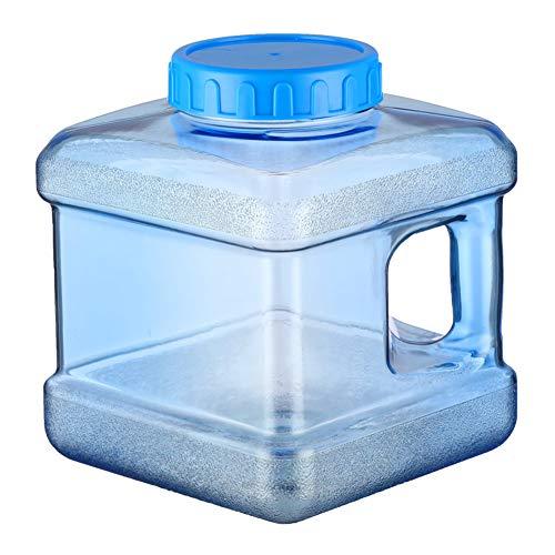 CHAMAIR Bidón de agua, contenedor de agua, cubo portátil, 5 litros, portátil, para exterior, depósito de agua reutilizable con grifo para picnic, senderismo