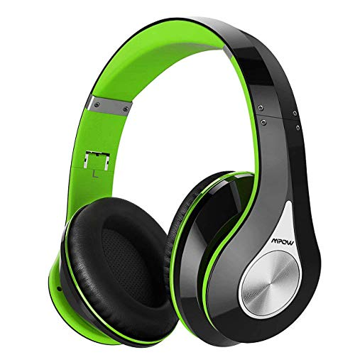 Mpow 059 Bluetooth Headphones Over-Ear, [20-25 Hrs Playtime] Hi-Fi Stereo Sound Wireless Headset, Foldable, Soft Memory-Protein Earmuffs, Built-In Microphone and Wired Mode for TV/PC/Cell Phones