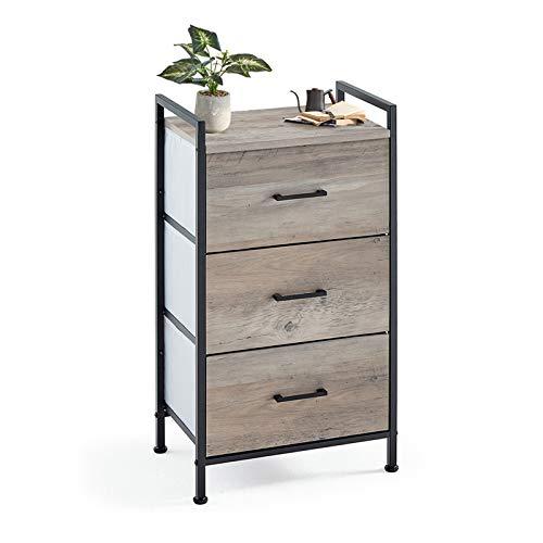 3 Drawer Dresser Wide Chest of Drawers Nightstand with Wood Top Rustic Storage Tower storage dresser Closet for Living Room, Bedroom, Hallway, Nursery, Kid