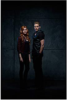 Shadowhunters: The Moral Instruments Katherine McNamara as Clary and Dominic Sherwood as Jace Standing Looking Sexy 8 x 10 Inch Photo