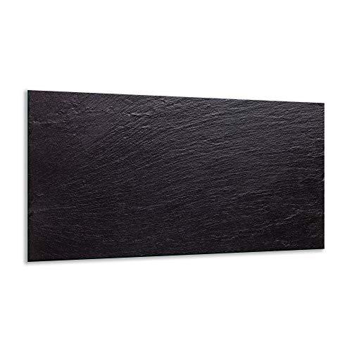 Herdabdeckplatte Ceranfeld Textur Schwarz 1 Teilig 90x52 Kochplatten Induktion