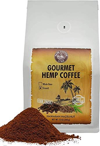 Sapa Hemp Coffee Hazelnut - Fair Trade 100% Arabica 12 oz Ground Coffee