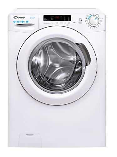 Candy Smart CS34 1262DE/2-S Waschmaschine, 6 kg, 1200 U/min, 34 cm tief, einfaches Bügeln, 5 Schnellprogramme, 56 dba, Energieklasse A+++, Weiß