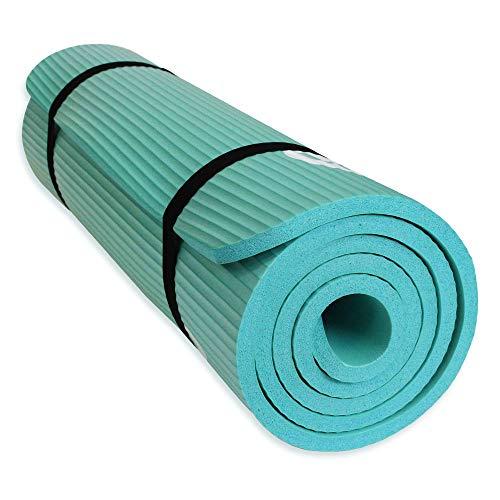 YUREN Yogamatte Weich Extra Dicke 1,5 cm öko Leicht NBR rutschfest Schadstofffrei Gymnastikmatte Ashtanga Bikram Fitnessmatte Komfort inkl Tasche&Tragegurt