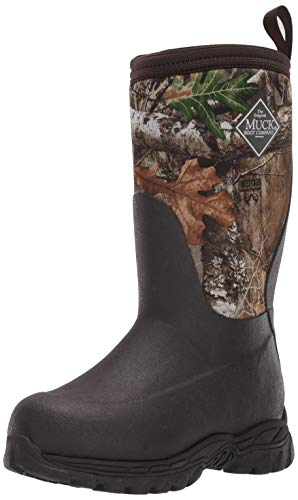 Muck Boot unisex child Rugged Ii Snow Boot, Brown/Real Tree Edge, 1 Big Kid US