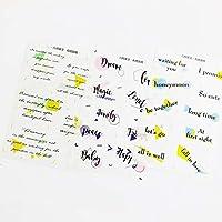 3枚/パック幾何学的な英字DIYステッカー装飾日記アルバムスティックラベル