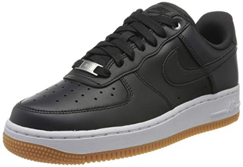 Nike Damen WMNS Air Force 1 '07 PRM Basketballschuhe, Schwarz (Off Noir/Off Noir/MTLC Silver/Gum Med Brown/White 008), 36 EU