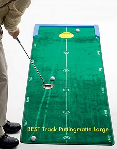 Best Track Puttingmatte Large, Putting-Cup, Mattenwischer, 2er-Set Unterlegkeile