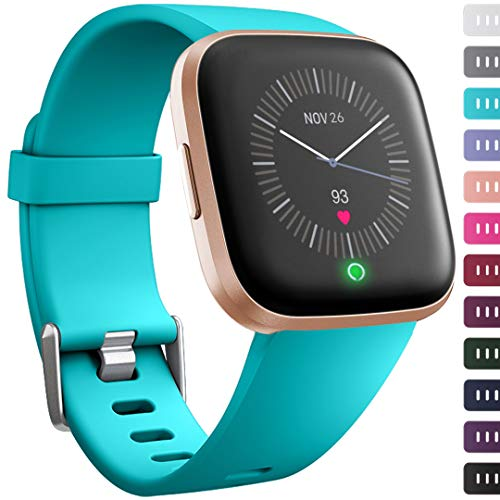 Ouwegaga for Fitbit Versa Bands Replacement Sport, for Fitbit Versa Fitness Straps Wristbands for Men Women Large Teal