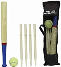 M.Y Deluxe 6 Piece Wooden Rounders Set & Carry Bag
