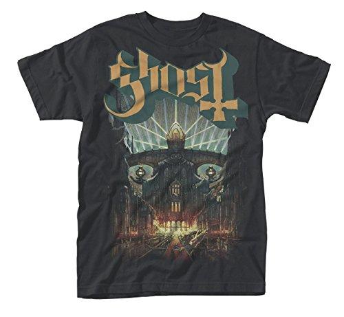 Ghost Meliora Prequelle Infestissumam Popestar Oficial Camiseta para Hombre (Large)