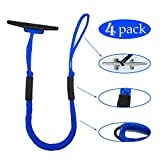 Pack of 4 Bungee Dock lines - Marine Rope for Boat