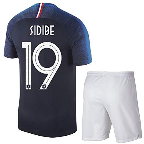 YANDDN Frankreich Fußball-Weltmeisterschaft 2018 Trikot SIDIBE # 19 DEMBELE11# Erwachsene/Kinder, Polyester-19black-20
