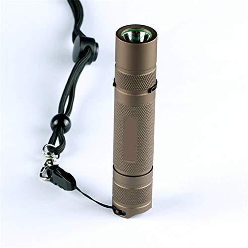 LED-Taschenlampe,Taschenlampe Wasserdichter Aluminiumlegierungssand Xp-l Hi 7135x8 3/5 Modi 1000 Lm EDC LED-Taschenlampe für Camping