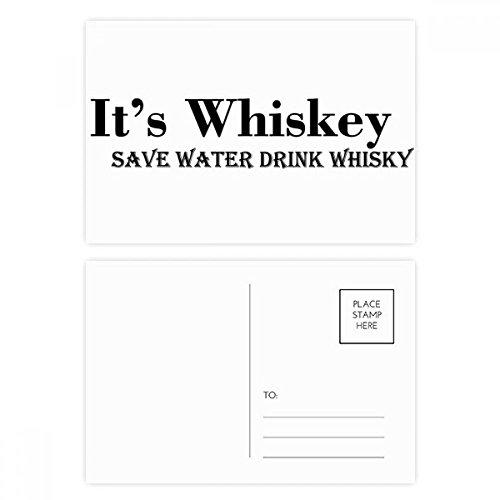 DIYthinker It Whiskey Save Water Drink Whiskey Postcard Set Verjaardag Thanks Card Mailing Side 20 stks 5.7 inch x 3.8 inch Multi kleuren