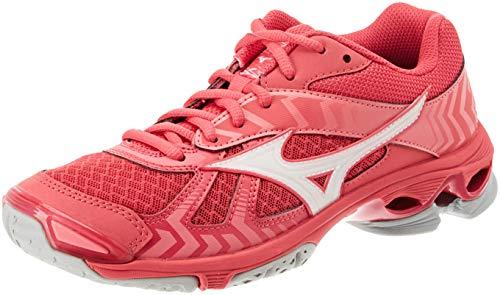 Mizuno Damen Shoe Wave Bolt WOS Sneakers, Pink (Azalea/Wht/Camelliarose 001), 38.5 EU