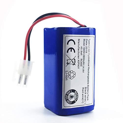 DDyna 14,8 V 2800 Mah Robot Aspirador Paquete de batería de Repuesto para Chuwi Ilife V7 V7s Pro Robotic Sweeper-Blue