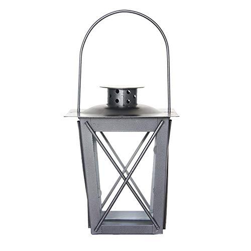 Garlivo - Neureus S Laterne für draußen & drinnen, Windlicht aus Glas, Eisen | 12 cm (B) /16 cm (H) | Gartenlaterne für Gartendeko und Balkon Dekoration