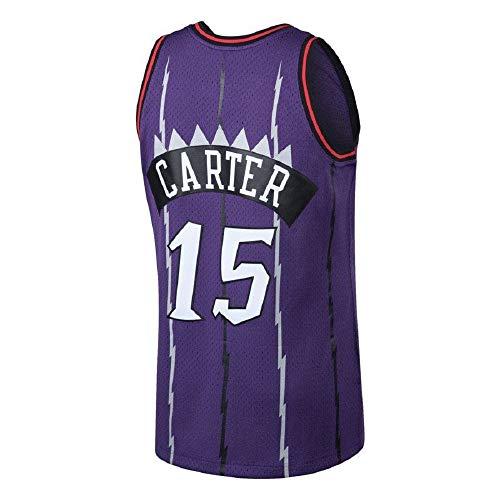 Men's Carter Jersey Basketball Athletics Jerseys Retro Jersey 15 Purple(S-XXL) (XL)