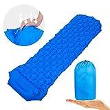 KLAS REMO Camping Isomatte wasserdichte Schlafmatte leichte Luftmatratze Ergonomisches Design blau...