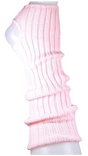 AVIDESO Stulpen Damen/Mädchen/Kinder - Ballettstulpen + Fersenloch - Tanzstulpen Beinstulpen Armstulpen Strick Weich Legwarmer (Kinder (ca. 36cm lang), rosa)