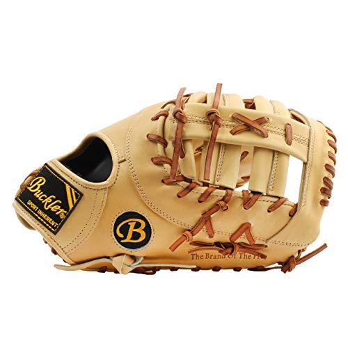BUCKLER 'Fame Pro' Series - Premium Texas Steerhide Adult Baseball Gloves - First-Base Mitts - 12.75