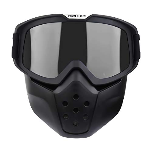 Carperipher Motorcycle Goggles Mask Detachable, Motocross Goggles with Removable Face Mask for Men &...