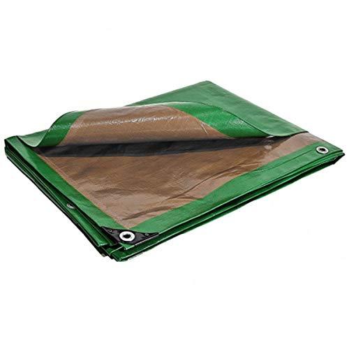 Telone plastica 10x 15m impermeabile verde e marrone 250g/m²–Telone di protezione pe ad alta densità