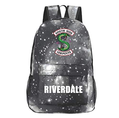 Mesky EU Riverdale Jones Mochila Escolar Betty Cooper Backpack School Derivative Oxford Luggage Fiber Cosplay Navidad Regalo Unisex para Hombre/Mujer