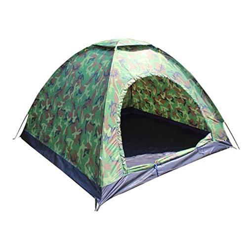 BOINN Tienda de campaña ultraligera de camuflaje para acampar de 3 a 4 capas al aire libre portátil de playa
