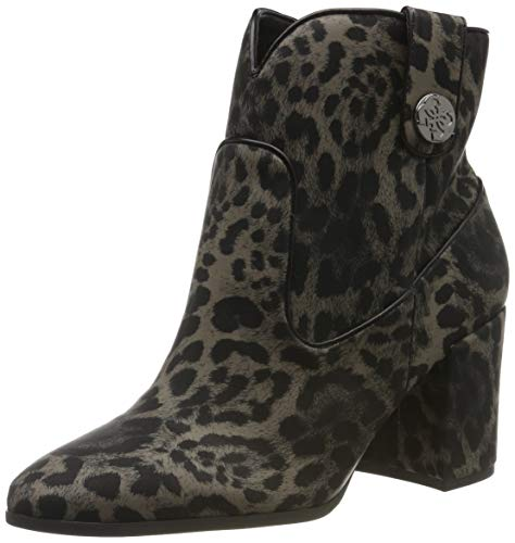 Guess Cypher2/stivaletto (Bootie)/su, Botines Mujer, Negro (Black Colores Colores Op Paprika), 39 EU