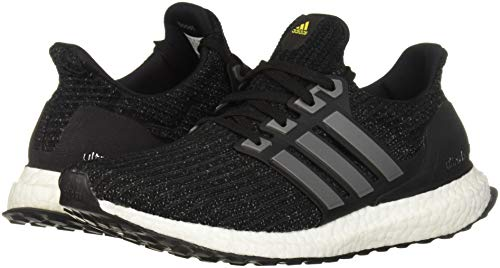 adidas Men's Ultraboost LTD, Black/Iron Metallic/Vivid Yellow, 7 M US