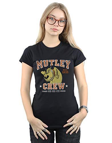 Women's Mutley Crew T-shirt, Black or Grey, S to XXL