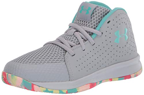 Under Armour Unisex-Youth Pre School 2019 Basketball Shoe, Mod Gray (102)/Halo Gray, 2.5