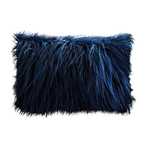 N/A ROKAUY Fluffy Pillowcase Super Soft Long Shaggy Cushion Cover Plush Throw Pillow Cases Decoration for Sofa Bed Couch Home Bedroom Car (50cmx30cm)