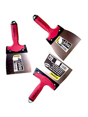 Rugoplast – Spatole per implastecer in acciaio inox e manico in plastica antiscivolo, diverse misure, Q1-EZW4-EKX2