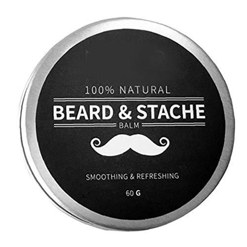 Odoukey Beard Balsam für Männer Wachstum Wachs Butter Styling Enthärter Conditioner Befeuchten Natural Ingredients