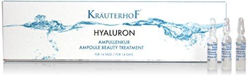 L'acide Hyaluronique Ampoules Kräuterhof hydratant visage fabriqué en Allemagne - 14 Jours traitement Anti-Rides Anti-vieillissement