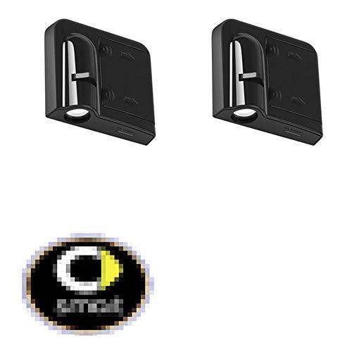 AniFM Autotür Willkommen LED Projektor Laser Logo Licht/Ghost Shadow Lichter für Smart 453 451 450 Fortwo ForFour Car Styling Zubehör,2pcs
