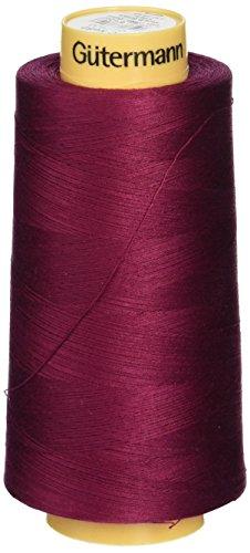 Find Bargain Gutermann Natural Cotton Thread Solids, 3281-Yard, Burgundy