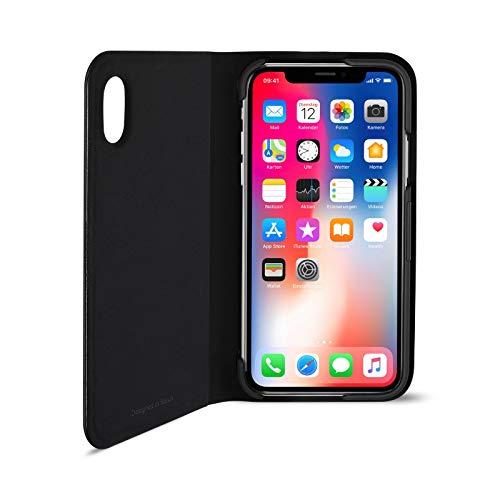 Artwizz FolioJacket Handyhülle designed für [iPhone XS / X] - Schutzhülle im modernen Design mit Standfunktion, Magnetverschluss - Schwarz
