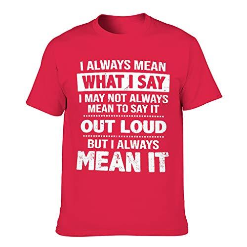 Camiseta para hombre con texto en alemán 'Ich Immer Meinen, was ich Druck Witzig Workwear Red1 XXXL